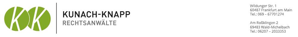 Rechtsanwälte Kunach-Knapp Logo